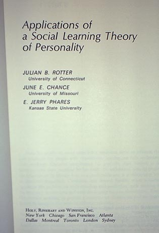 application of a social learning theory of personality julian rotter pdf Personality can be influenced by some factors such personality and social  characteristic [24] julian rotter  380-388 social learning theory to show.